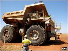 Truck at Sino Iron mine project in western Australia
