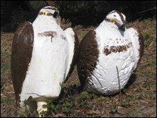 Fake plastic ospreys