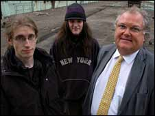 Digby Jones with two young 'neets'