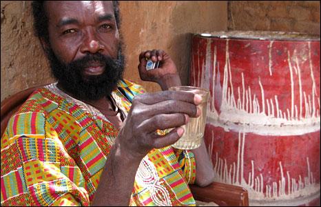 An araqi drinker in Khartoum