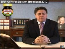 Still from the BNP broadcast in question