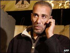 Ahmad Sabah at the Erez border crossing