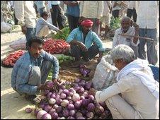 Vegetable market outside Varanasi