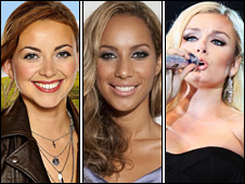 Charlotte Church, Leona Lewis and Katherine Jenkins