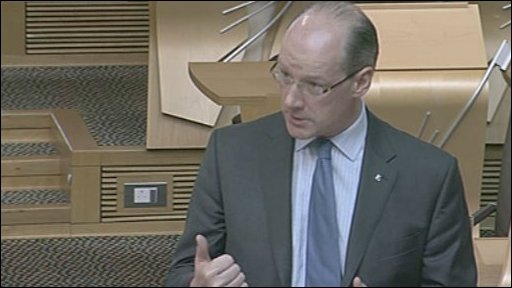 Finance Secretary John Swinney gave the statement