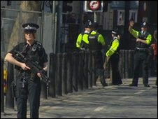 Police in Bristol for Leaders Debate