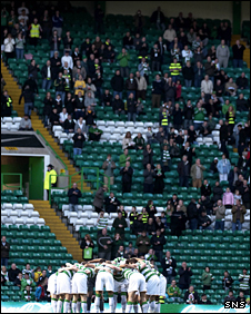 Celtic supporters at the recent league clash with Motherwell
