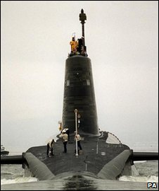 HMS Vigilant - one of the Royal Navy's Trident submarines