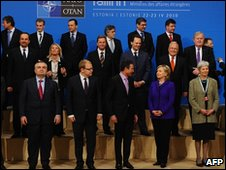 Nato foreign ministers in Tallinn on 22/04/2010