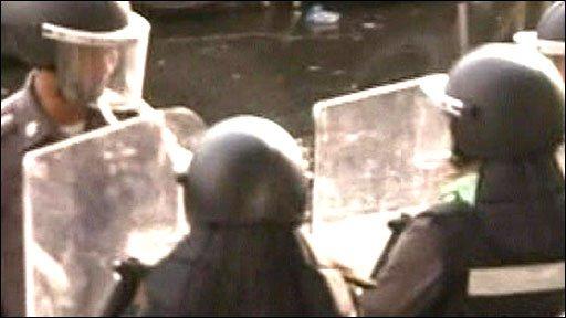 Thai riot police