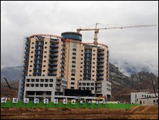Family reunion centre under construction in Kumgang, North Korea (file image)