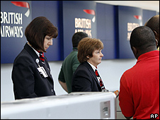 BA check-in desk, O'Hare International Airport in Chicago