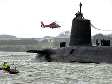 Trident carrier at Faslane