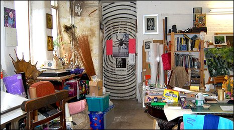 One of the artists' studios