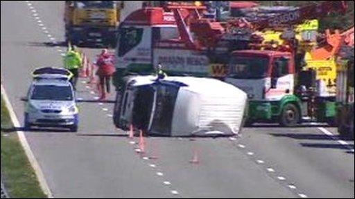 M4 crash scene