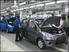 The Hyundai assembly line ner Sriperumbudur