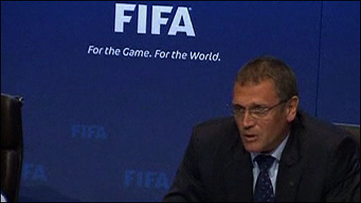 Fifa secretary-general Jerome Valke