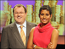 Working Lunch hosts Declan Curry and Naga Munchetty