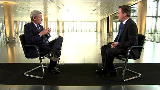 Jeremy Paxman and David Cameron