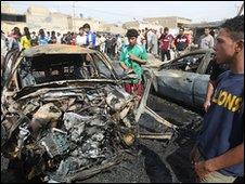 Scene of Baghdad bomb attack
