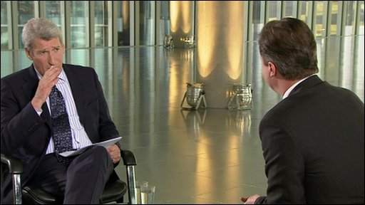 Jeremy Paxman and Nick Clegg