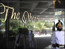 The Oberoi Hotel's main entrance. Photo: 21 April 2010