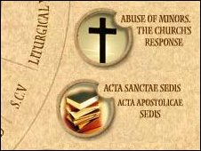 A screen grab of the Vatican's website, showing the link to guidance on handing child sex abuse cases