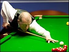 Steve Davis in action at the Crucible