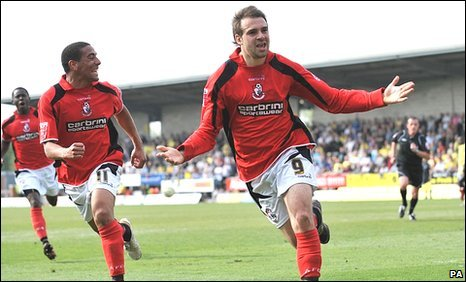 "Bournemouth""s Brett Pitman opens the scoring at Burton"
