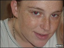 Fiona Adams, who escaped from the fire with her baby son