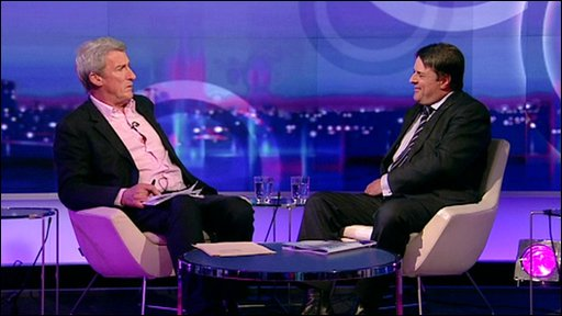 Jeremy Paxman and Nick Griffin