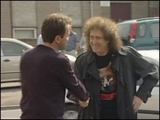 Dan Norris (left) and Brian May