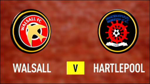 Walsall 3-1 Hartlepool