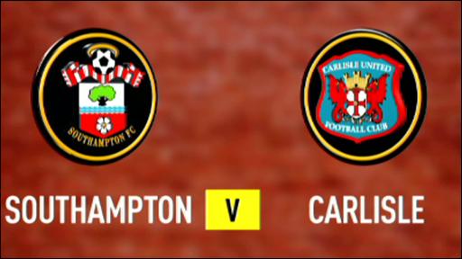 Southampton 3-2 Carlisle