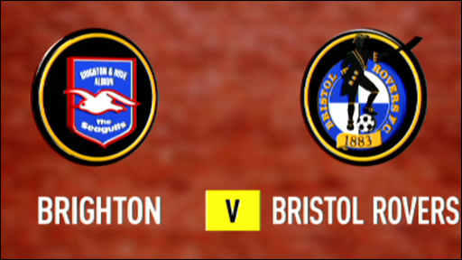 Brighton v Bristol Rovers