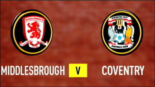 Middlesbrough 1-1 Coventry