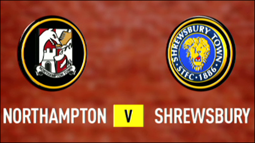 Northampton 2-0 Shrewsbury