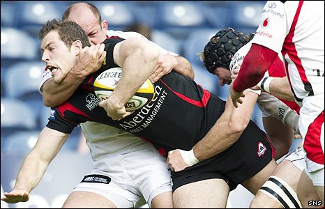 Edinburgh winger Tim Visser was a try-scorer at Murrayfield