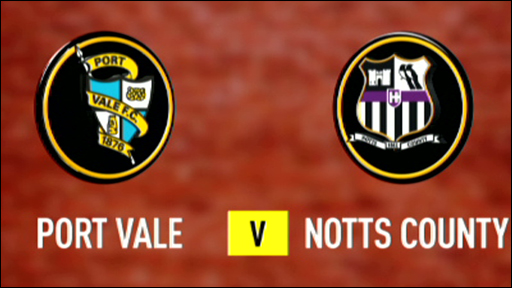 Port Vale 2-1 Notts County