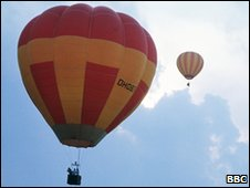 Balloons in flight (file photo)