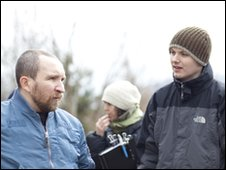 Eddie Marsan (left) with director J Blakeson (right)