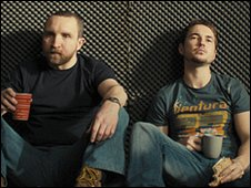 Eddie Marsan (left) with Martin Compston (right)