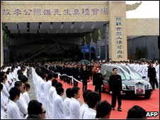 Funeral procession for mafia boss Lee Chao-hsiung