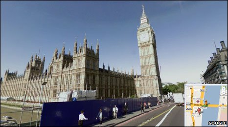 Big Ben on Google Street View