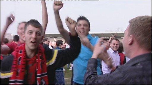 Bournemouth supporters celebrate