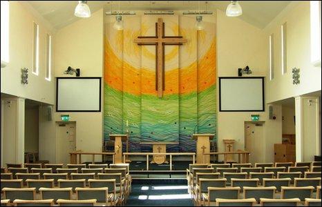Inside Trinity Methodist church, Kidderminster
