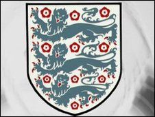 England Three Lions symbol