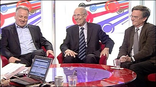 Jack McConnell, Norman Tebbit and Matthew Oakeshott