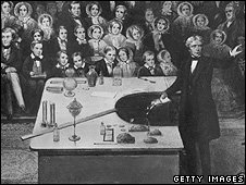 Faraday lecturing at the Royal Institution