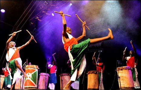 The Drummers of Burundi perform at Womad, Abu Dhabi